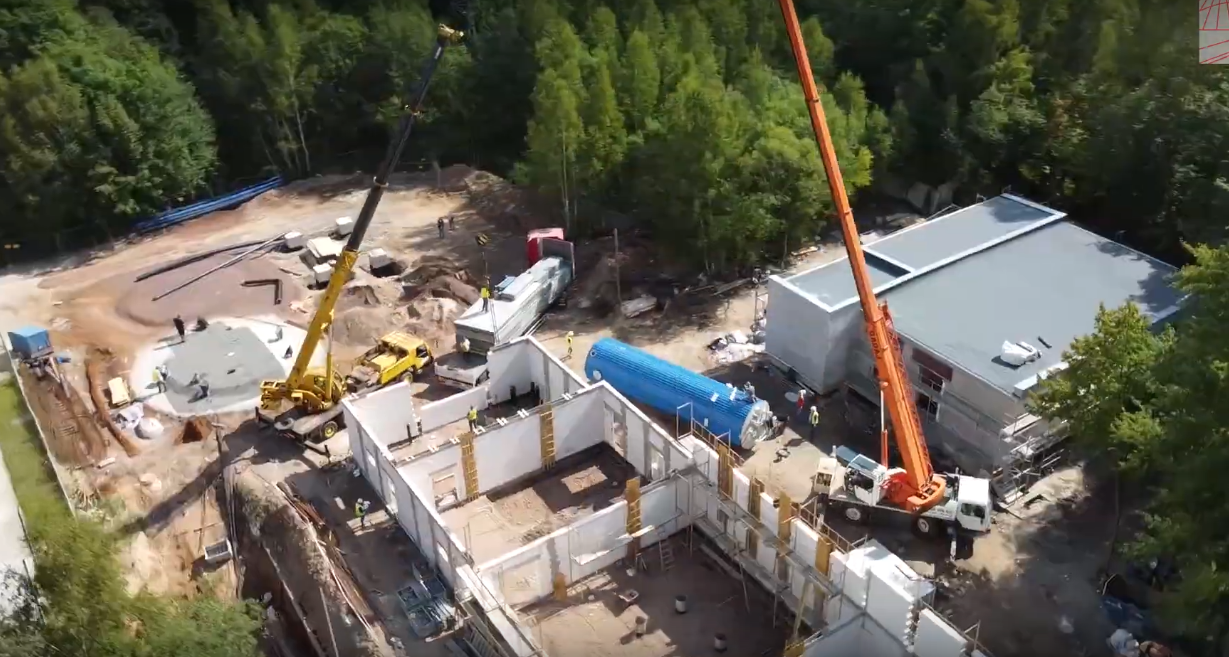 Budowa stacji uzdatniania wody z ujęcia podziemnego, z nieczynnego szybu POKÓJ w Jedlinie Zdroju
