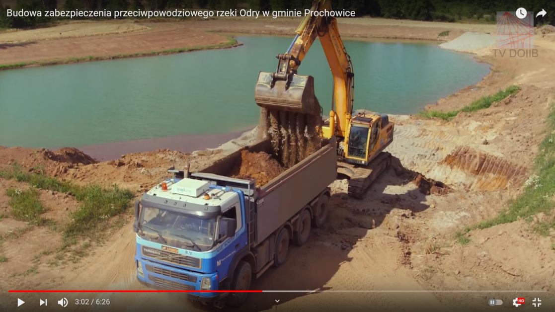 Budowa zabezpieczenia przeciwpowodziowego rzeki Odry<br //> w gminie Prochowice
